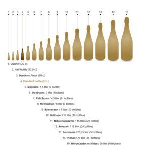シャンパーニュのボトルサイズ